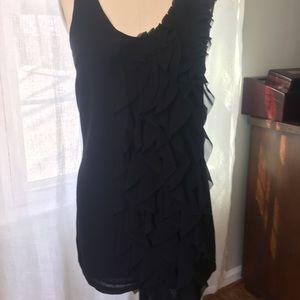 H&M Sleeveless dress w/ asymmetrical ruffle detail